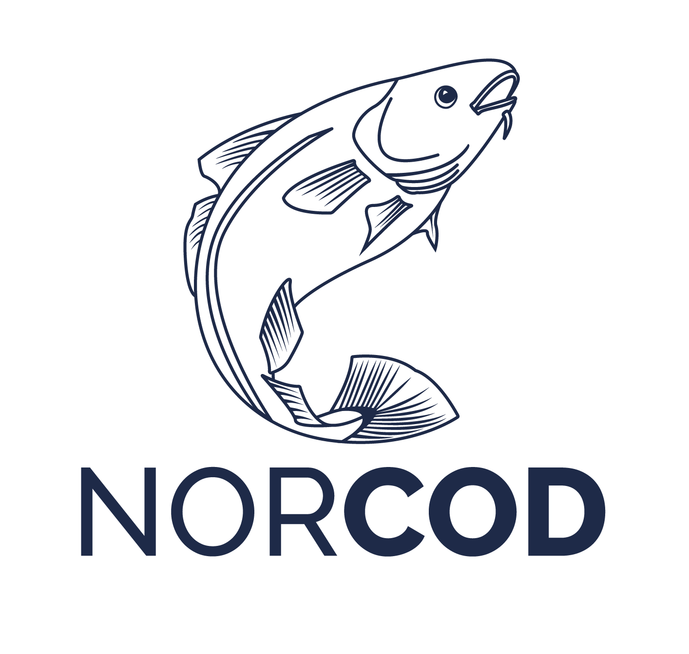 Norcod logo in blue